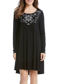 Karen Kane Embroidered Maggie Trapeze Dress