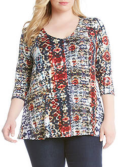 Karen Kane Spanish Days V-Neck Top