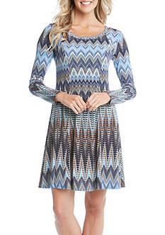 Karen Kane Desert Zig Zag A-Line Dress