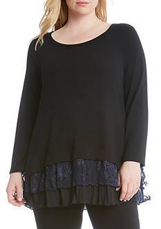 Karen Kane Plus Size Inset Sweater