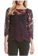 Karen Kane Embroidered Bracelet Sleeve Top