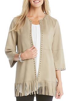 Karen Kane Studded Fringe Jacket
