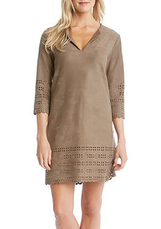 Karen Kane Cut Out Faux Suede Shift Dress