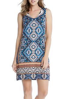 Karen Kane Yucatan Tile Print Dress