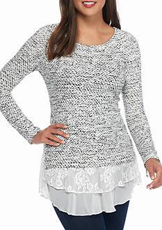 Karen Kane Lace Insert Sweater