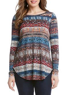 Karen Kane Long Sleeve Print Tunic