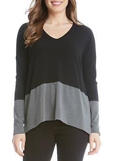 Karen Kane V-Neck Colorblock Sweater