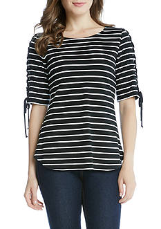 Karen Kane Lace Up Sleeve Top