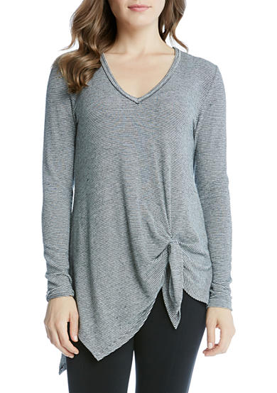 Karen Kane Asymmetric Side-Tie Top