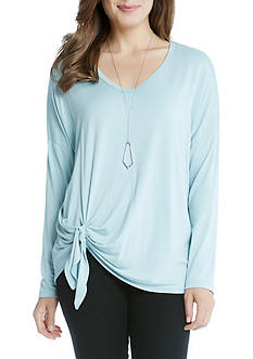 Karen Kane Long Sleeve Tie Front Tunic