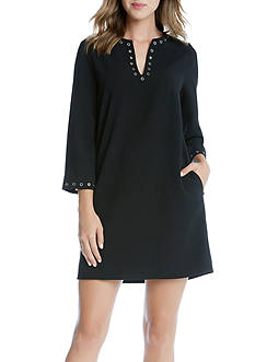 Karen Kane Eyelet Border Shift Dress