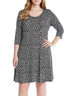 Karen Kane 3/4 Sleeve Print Dress