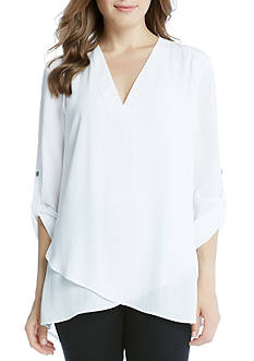Karen Kane Deep V Wrap Shirt