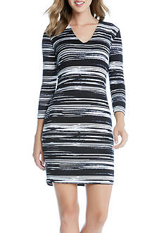Karen Kane V-Neck Sheath Dress