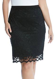 Karen Kane Lace Pencil Skirt