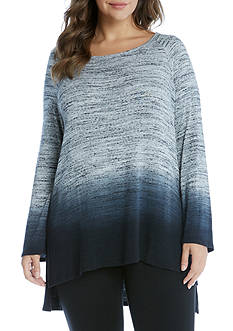 Karen Kane Plus Size Dip-Dye High Low Top
