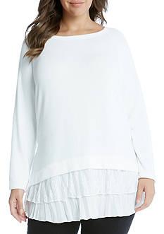 Karen Kane Plus Size Lace Inset Sweater