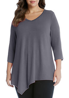 Karen Kane Plus Size Asymmetric Angled Top