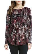 Karen Kane Long Sleeve Shirttail Tee