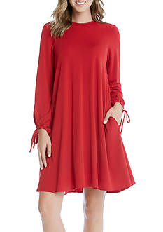 Karen Kane Tie Sleeve Swing Dress