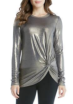Karen Kane Long Sleeve Side Twist Top