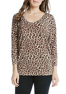 Karen Kane Cheetah Print Dolman Top