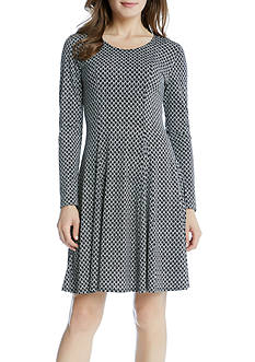 Karen Kane Geo Diamond Flared Godet Dress