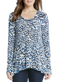 Karen Kane Flared Sleeve Hi-Lo Top