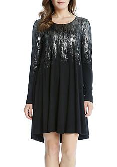 Karen Kane Metallic Print Maggie Dress