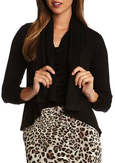 Karen Kane Shirred Three Quarter Sleeve Drape Jacket