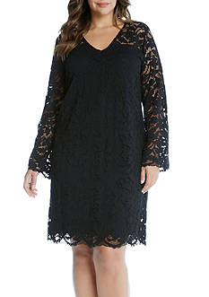 Karen Kane Plus Size Bracelet Sleeve Lace Dress