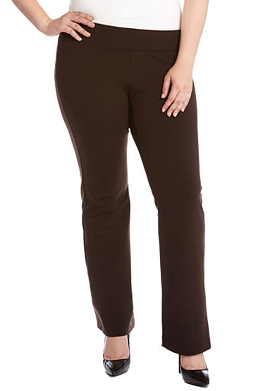 Karen Kane Plus Size Structured Knit Pant