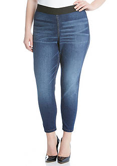 Karen Kane Plus Size Vintage Wash Jeggings