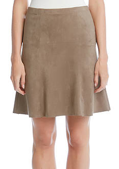 Karen Kane Flared Faux Suede Skirt