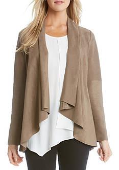 Karen Kane Faux Suede Drape Jacket
