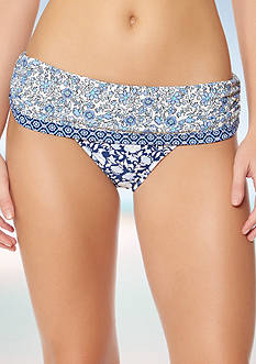 Jessica Simpson Patched Up Rollover hipster Swim Bottoms