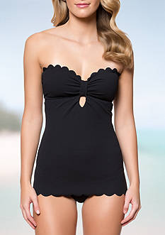 Jessica Simpson Keyhole Retro One Piece Swimsuit