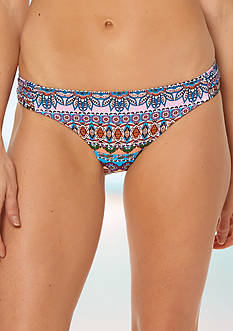 Jessica Simpson Versailles Side Shirred Hipster Swim Bottom