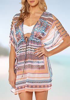 Jessica Simpson Versailles Open Shoulder Swim Cover Up