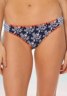 Jessica Simpson Vine About it Side Shirred Hipster Swim Bottom