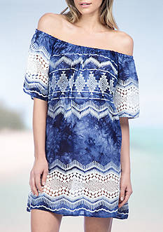 La Blanca Denim Pull On Dress Swim Cover Up