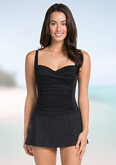 La Blanca Solid Skirted One Piece