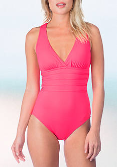 La Blanca Solid Strappy One Piece