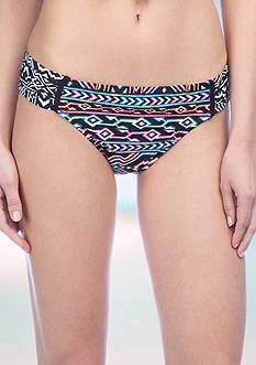 La Blanca Azteca Side Shirred Swim Bottom