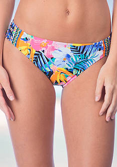 La Blanca Tropicali Side Shirred Hipster Swim Bottom