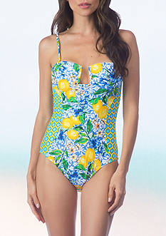 La Blanca Limoncello Bandeau One Piece Swimsuit
