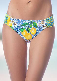 La Blanca Limoncello Side Shirred Hipster Swim Bottom