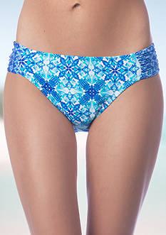 La Blanca True Blue Side Shirred Swim Bottom