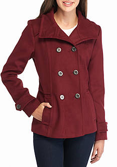 Celebrity Pink Hooded Peacoat