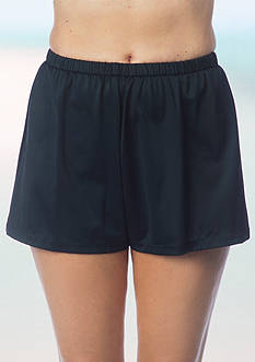 Maxine of Hollywood Solid Swim Shorts with Panty